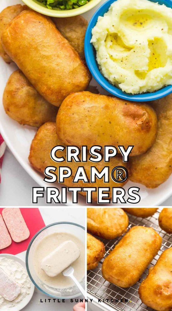Crispy SPAM® Fritters pinnable image