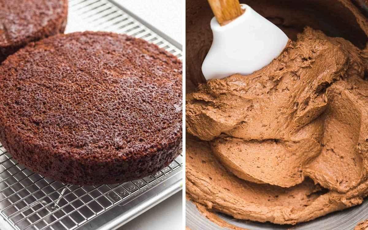 Chocolate cake and chocolate buttercream