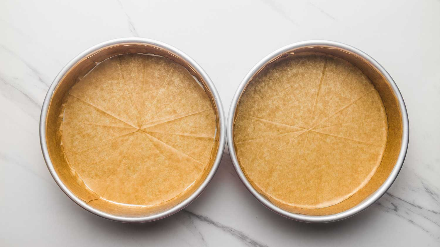 Lining cake pans with parchment paper
