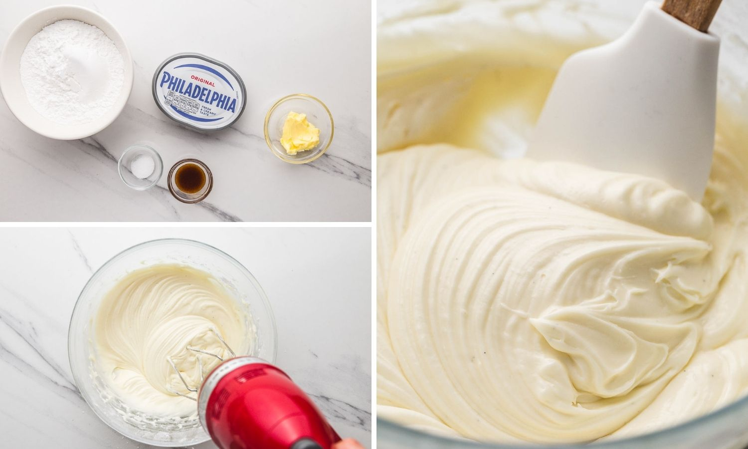 How to make cream cheese frosting with an ingredient shot.