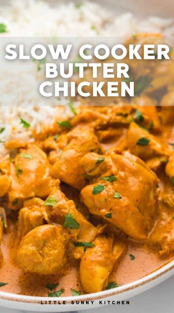 Slow Cooker Butter Chicken pinnable image
