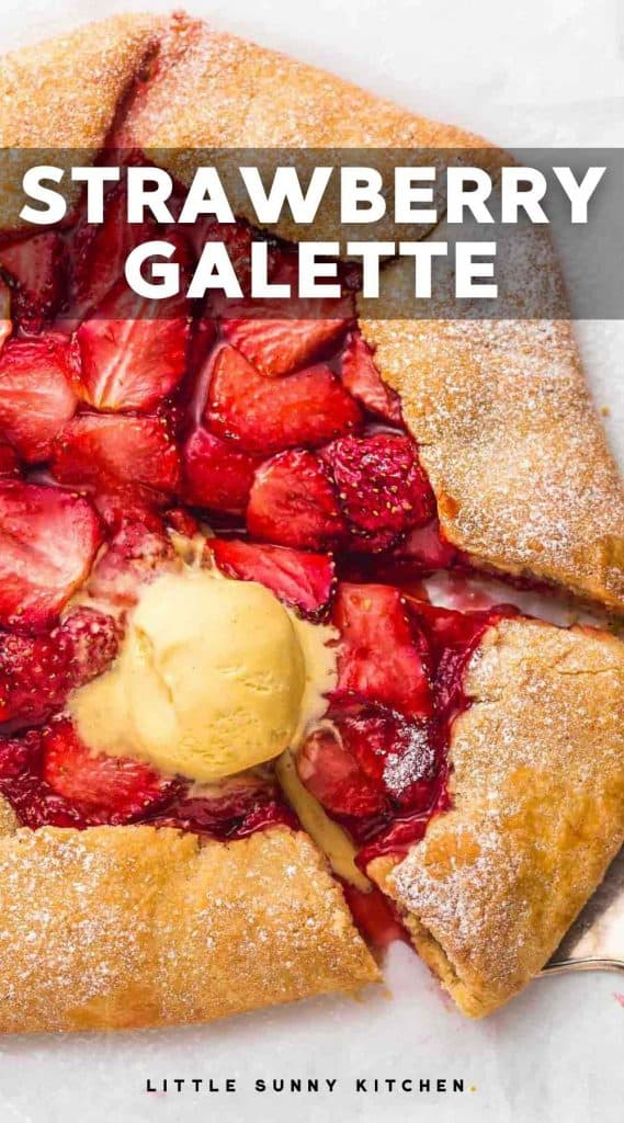Strawberry Galette pinnable image