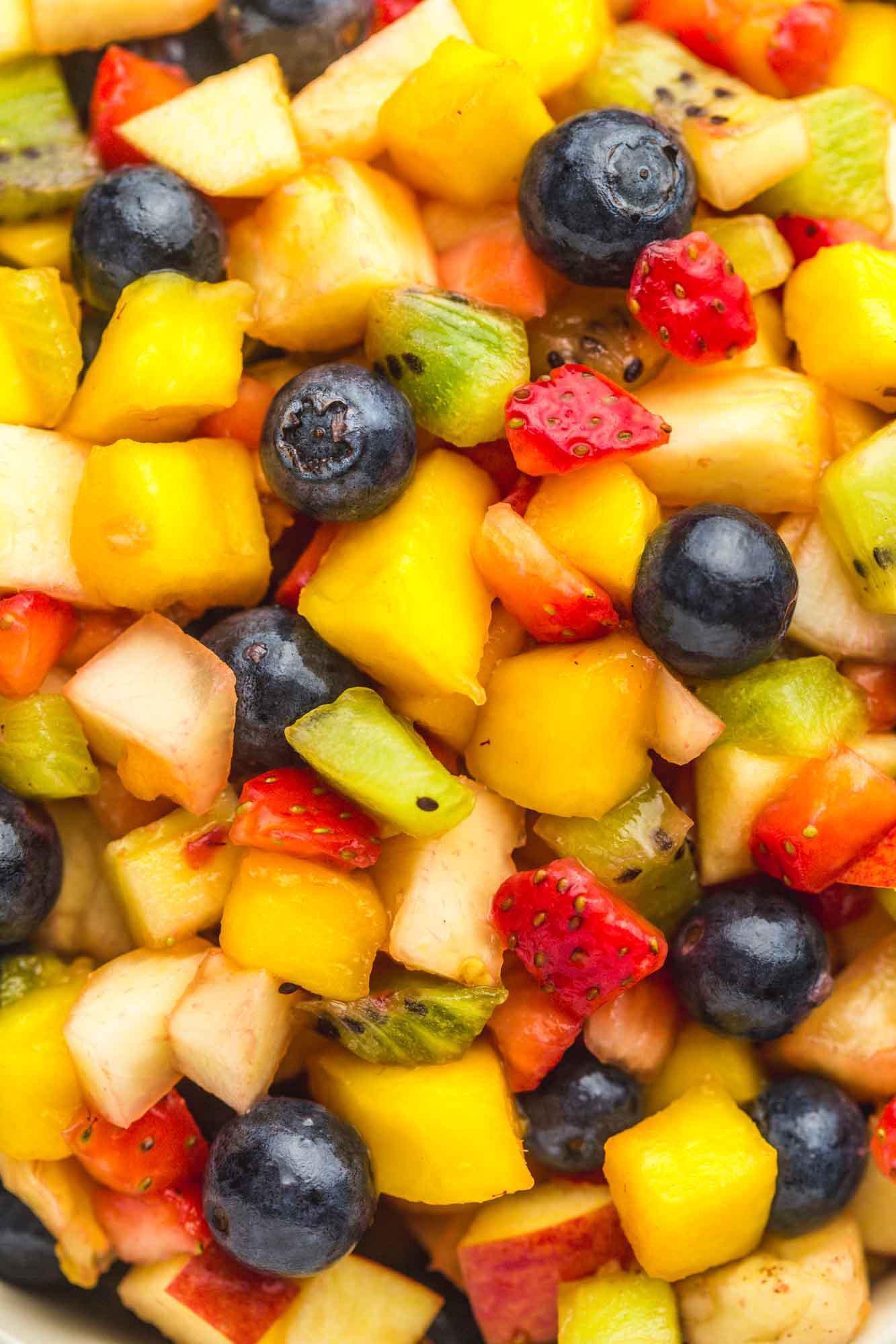 Close up shot of fruit salsa