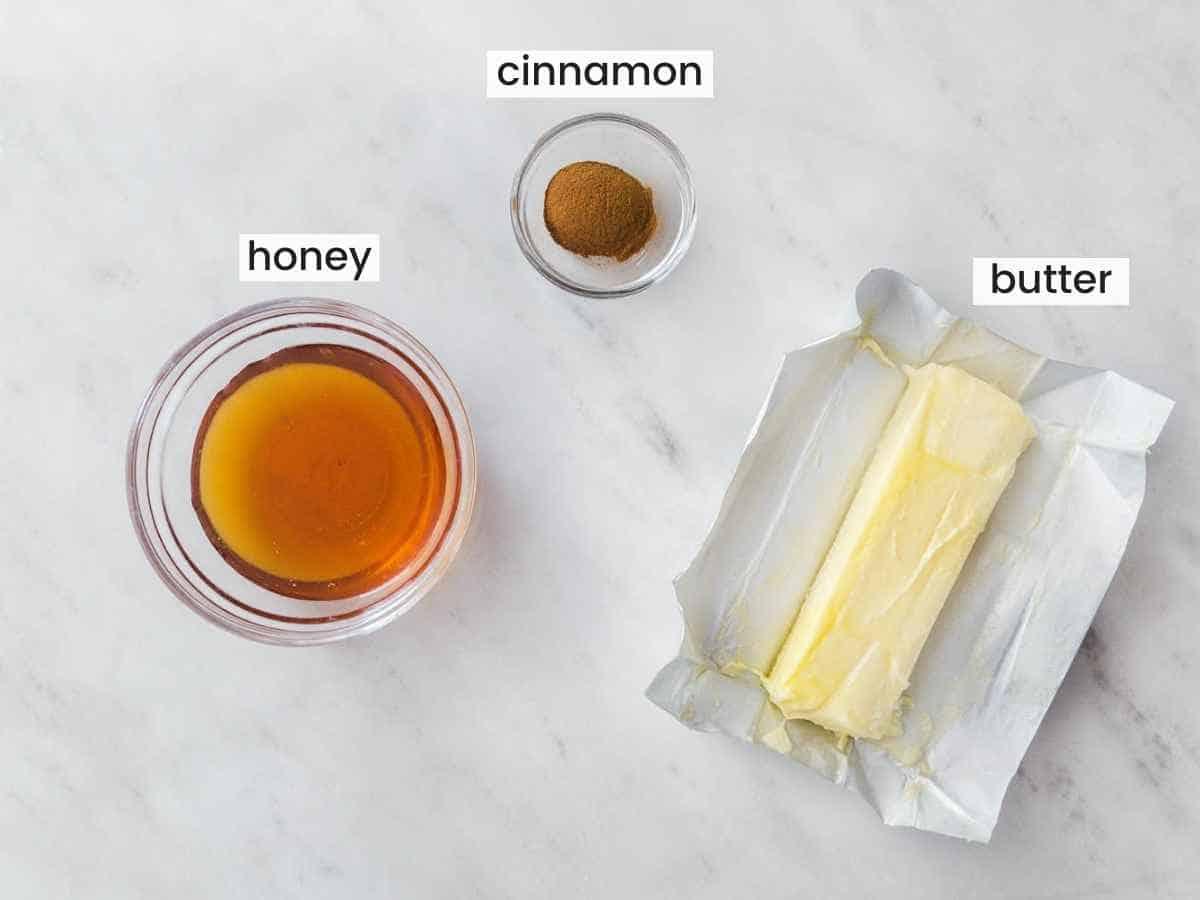 Ingredients for Cinnamon Honey Butter