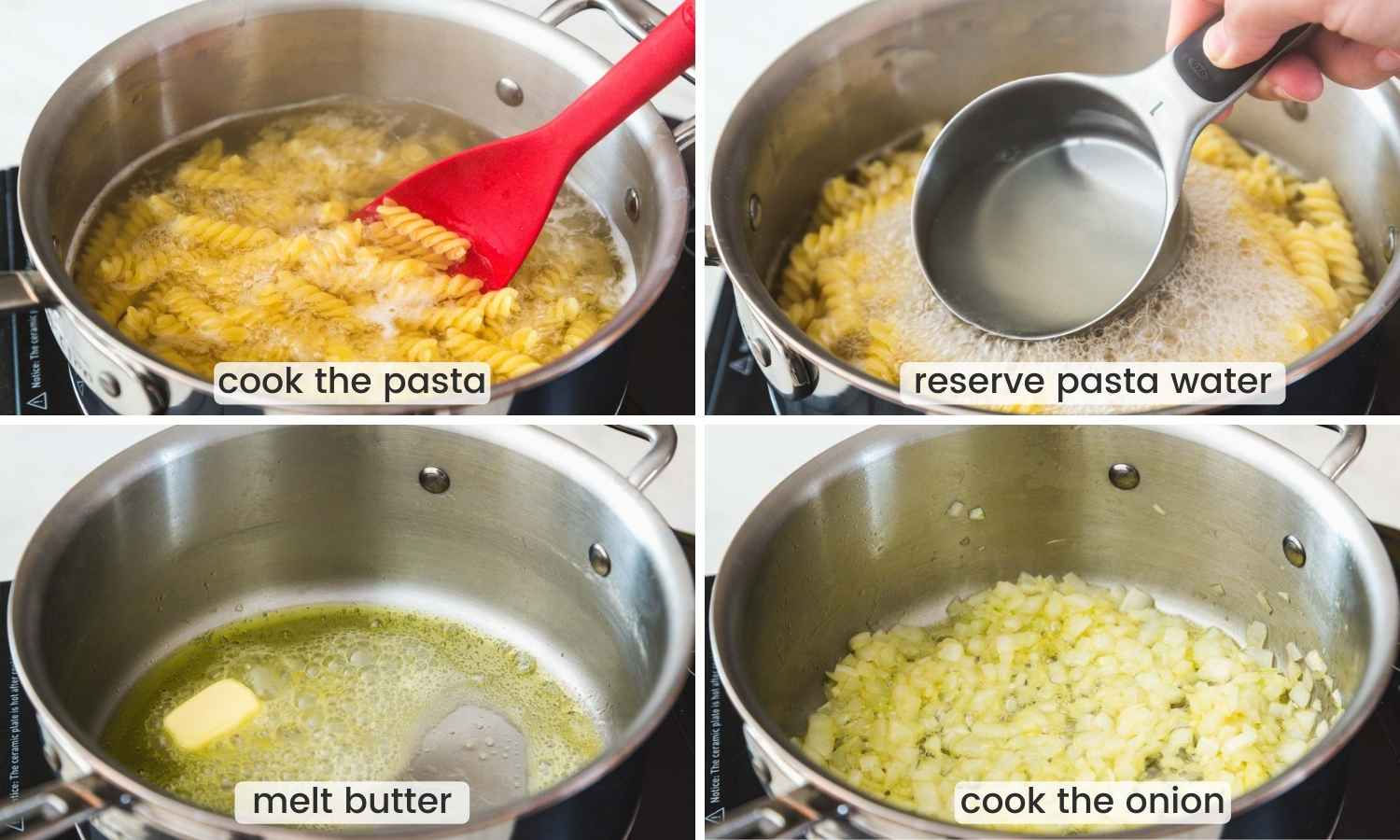 How to cook pasta for pasta with peas dish