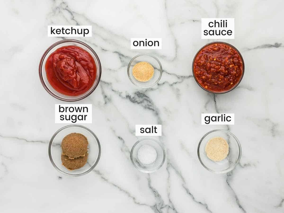 Ingredients needed for the glaze