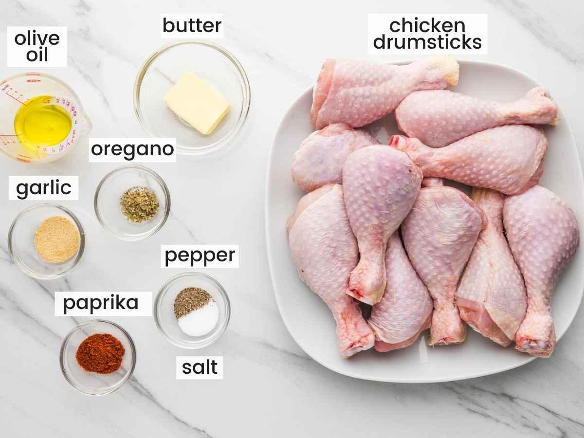 Ingredients needed for Instant Pot Chicken Drumsticks