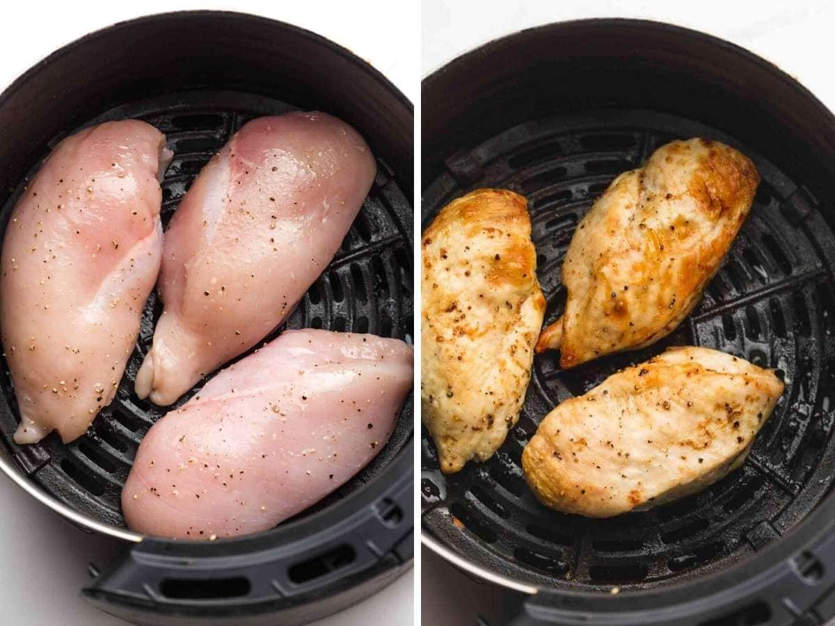Unbreaded air fryer chicken breast