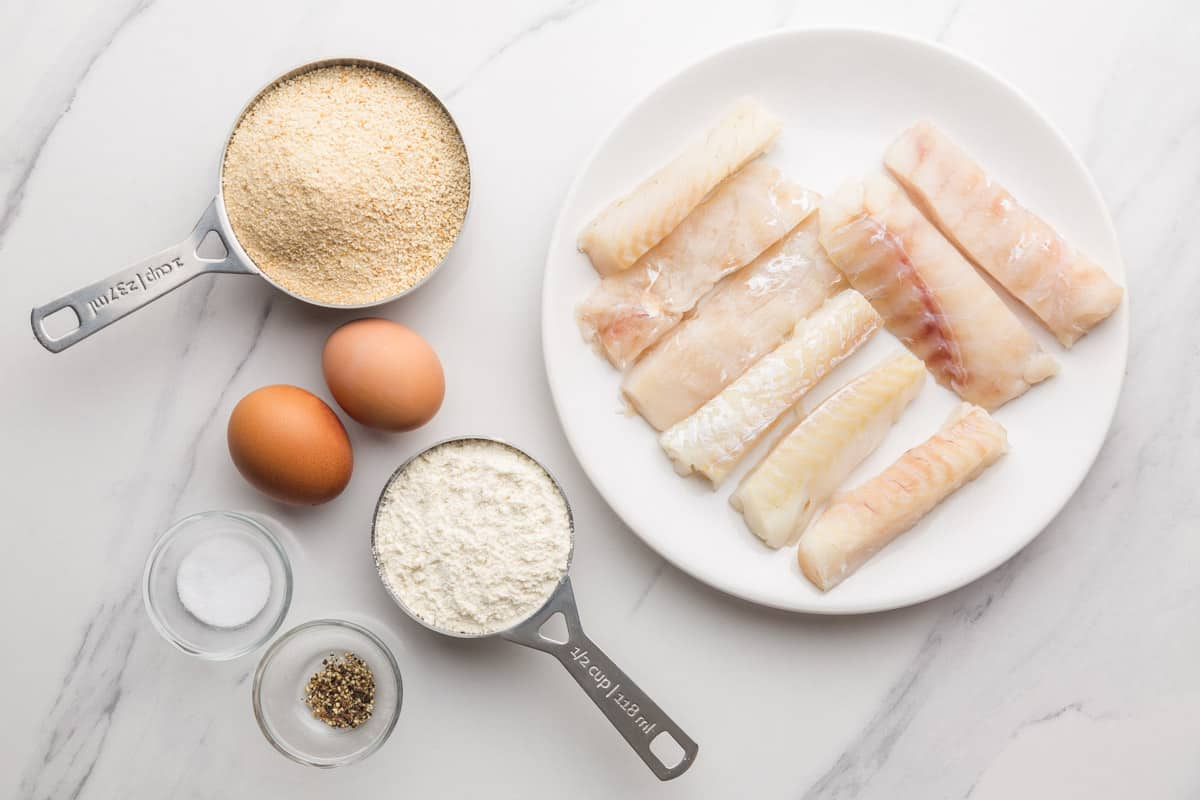 Ingredients needed to make Air Fryer fish sticks