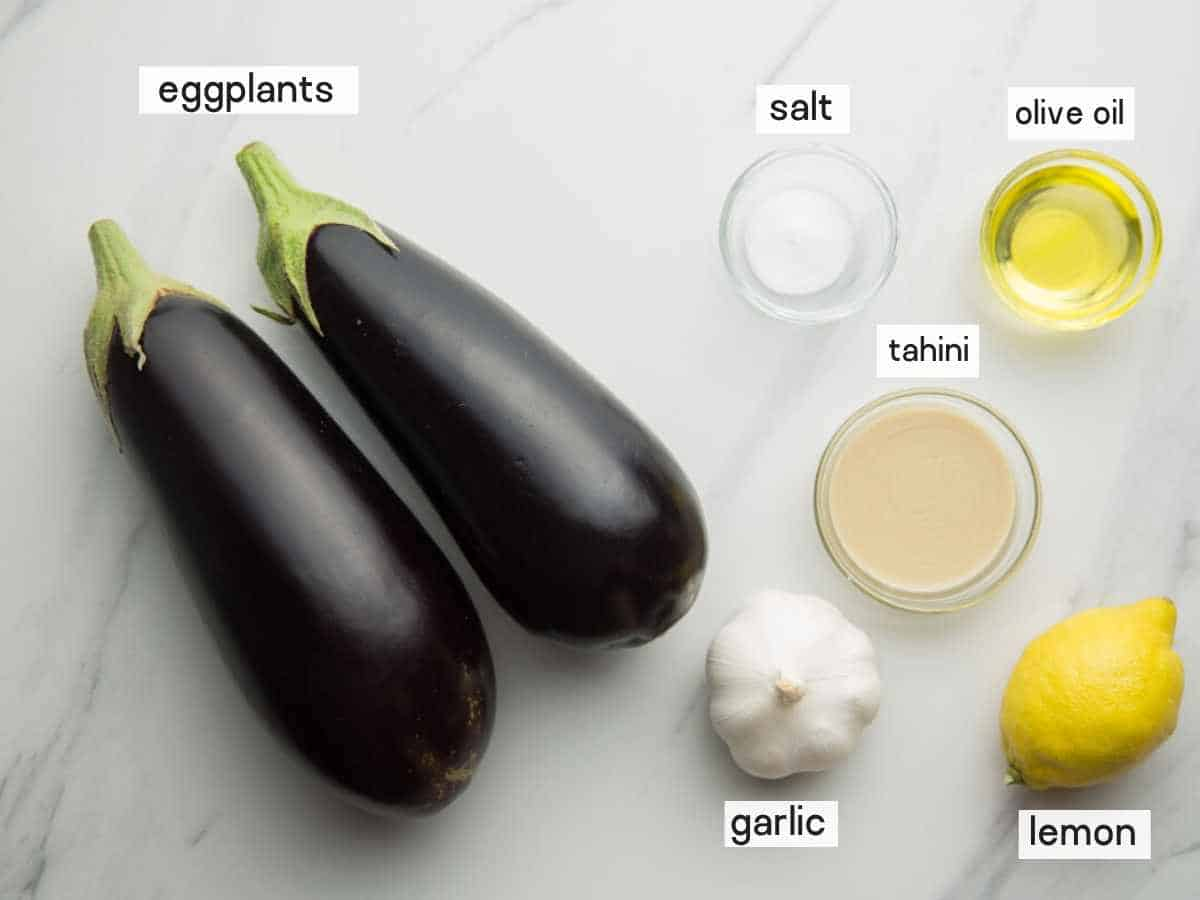 Baba Ganoush ingredients