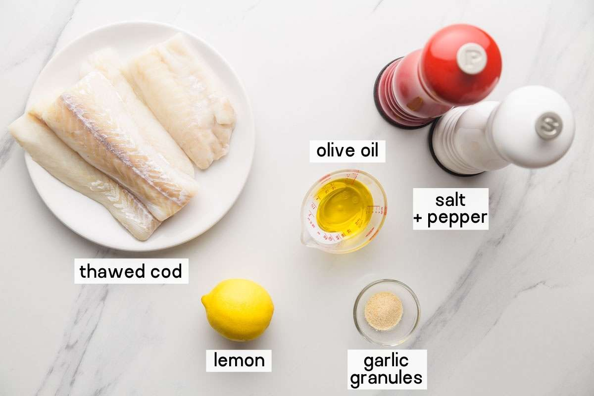 Ingredients needed to make baked cod