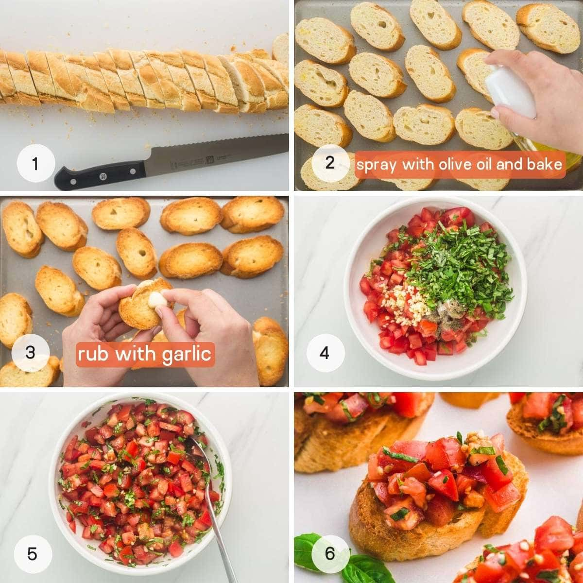 How to make tomato bruschetta