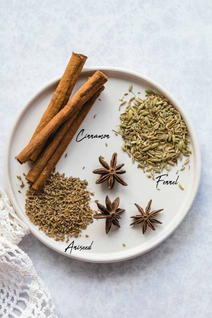 Ingredients needed to make this wheat berry porridge/dessert