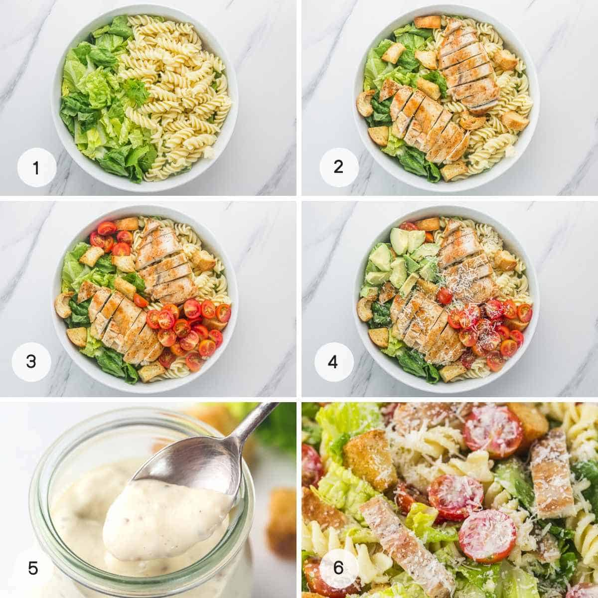 Steps how to make the pasta salad