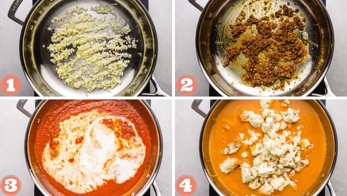 Steps on how to make vegan butter chicken