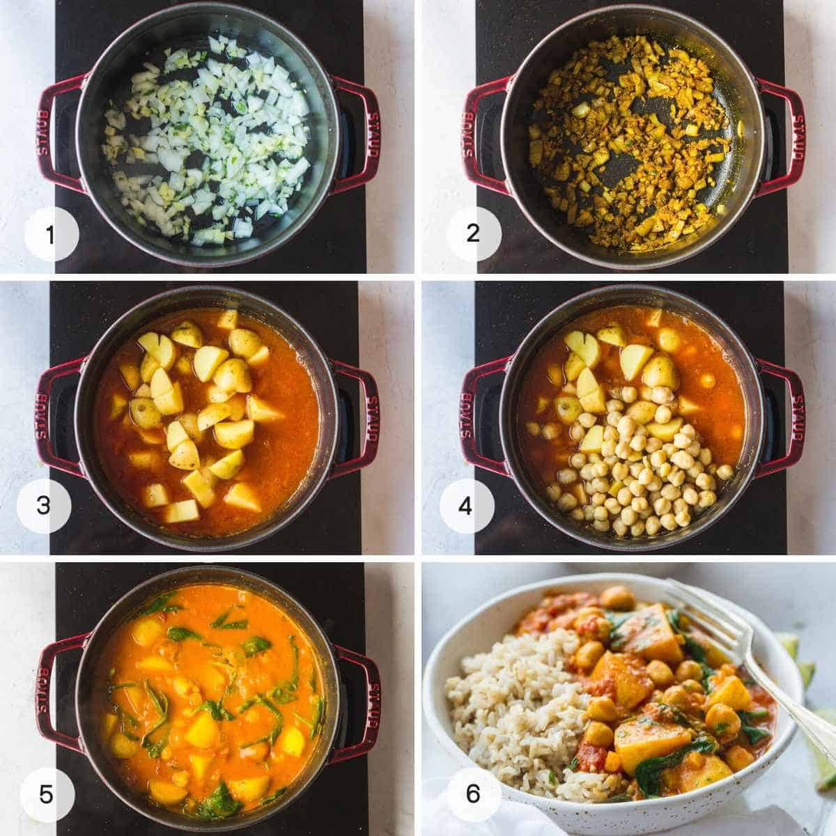 How to Make Chickpea and Potato Curry
