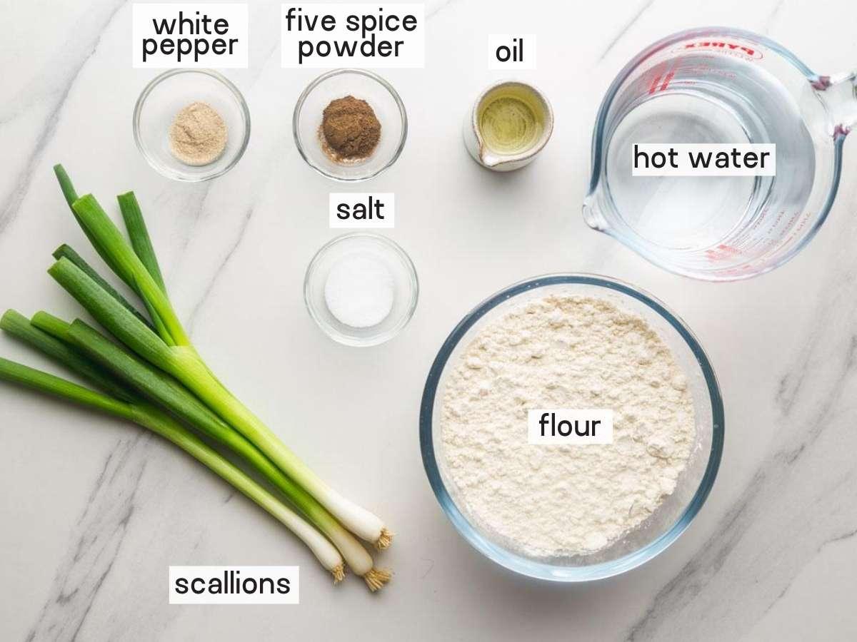 Ingredients needed to make the pancakes