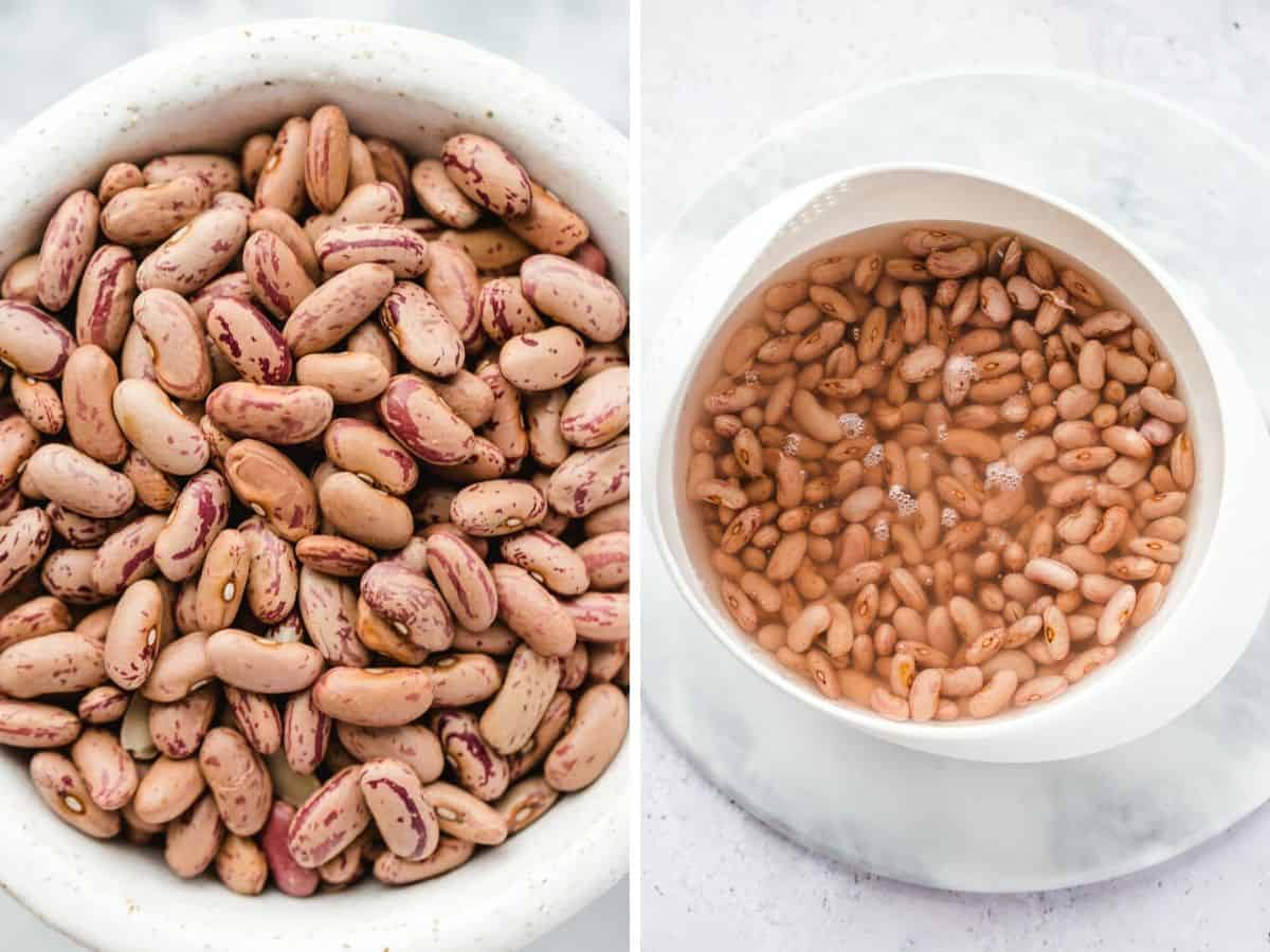 Dried beans vs soaked beans