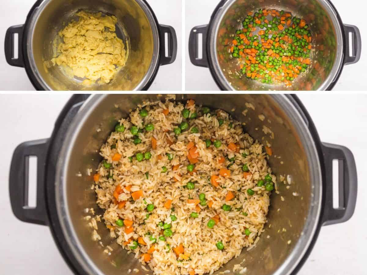 Steps how to make instant pot fried rice