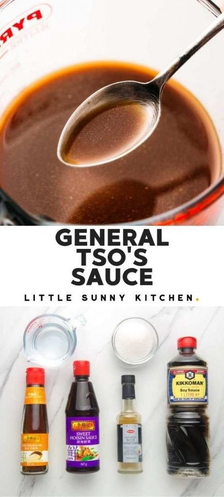 General Tso's Sauce pinnable image