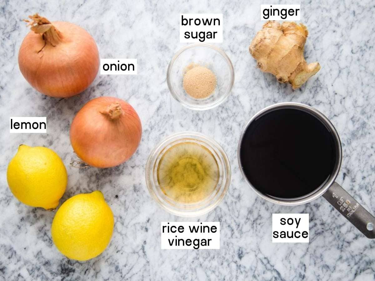 Ginger sauce ingredients