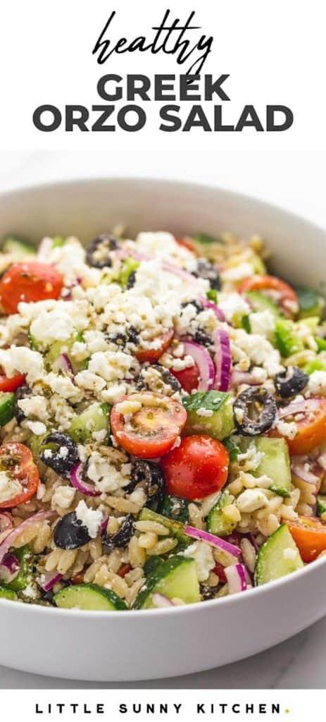greek orzo salad  little sunny kitchen