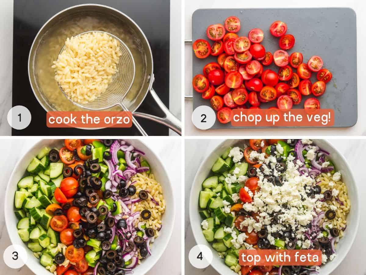 Steps how to make Greek Orzo Salad