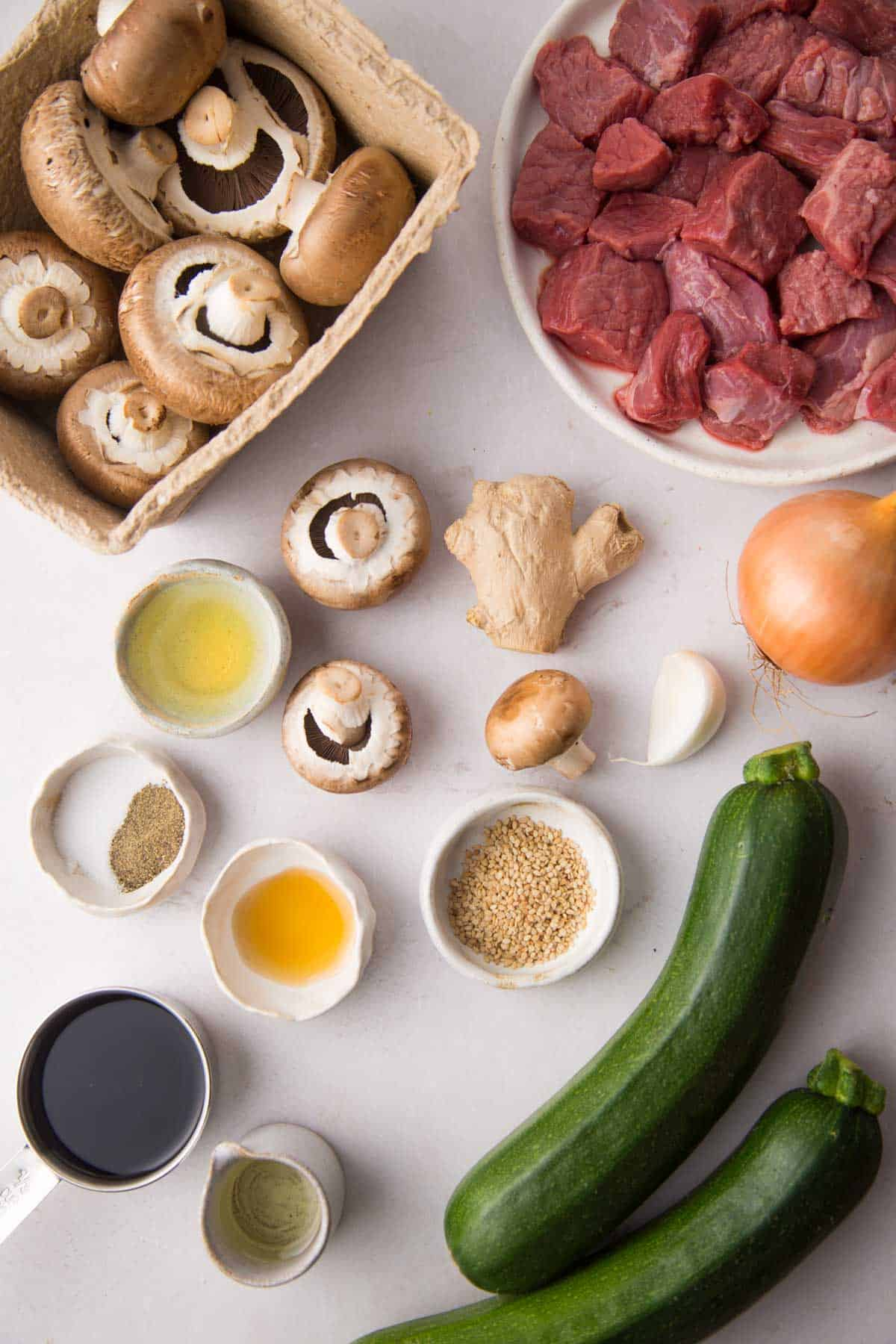 Hibachi steak ingredients
