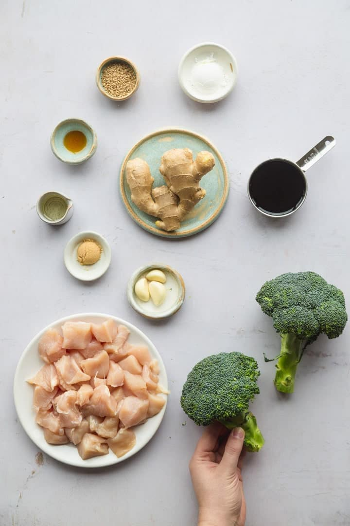 Instant Pot Chinese Chicken and broccoli ingredients