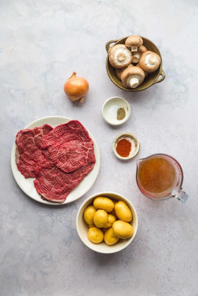 Instant Pot cube steak ingredients