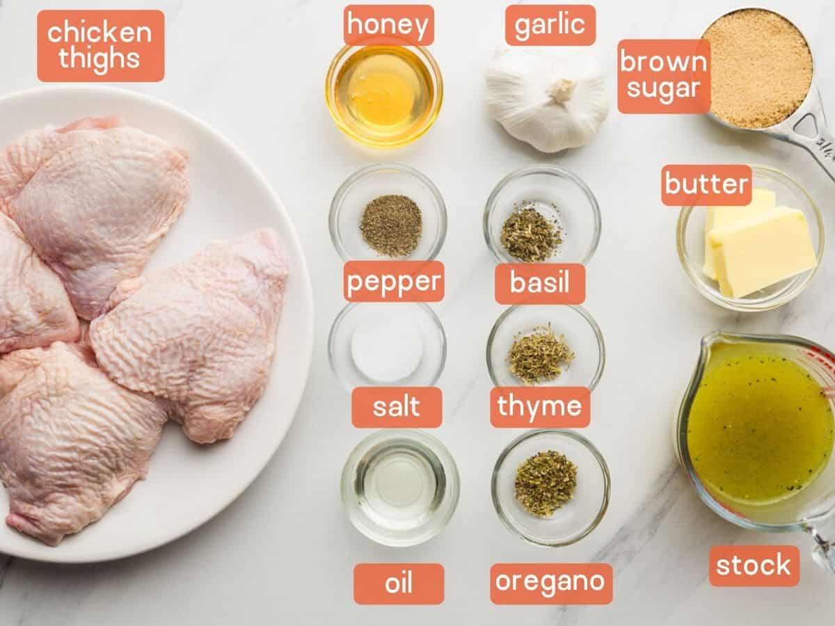 Ingredients needed to make brown sugar chicken in the Instant Pot