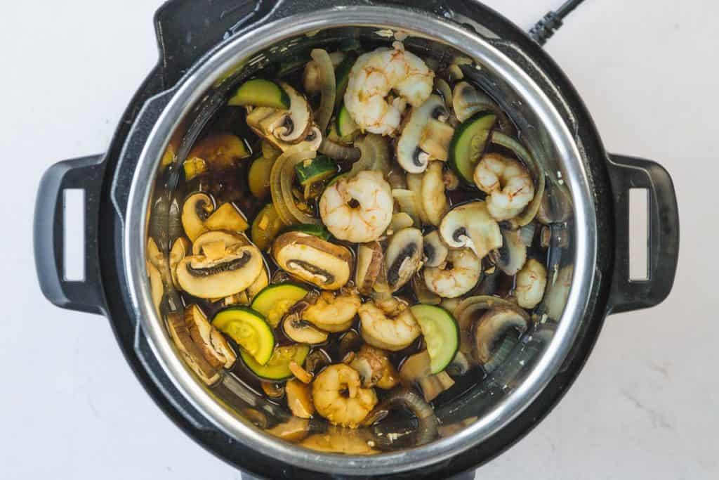 Cooking the hibachi in the Instant Pot
