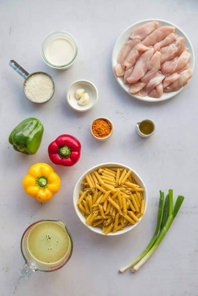 The ingredients of Rasta Pasta