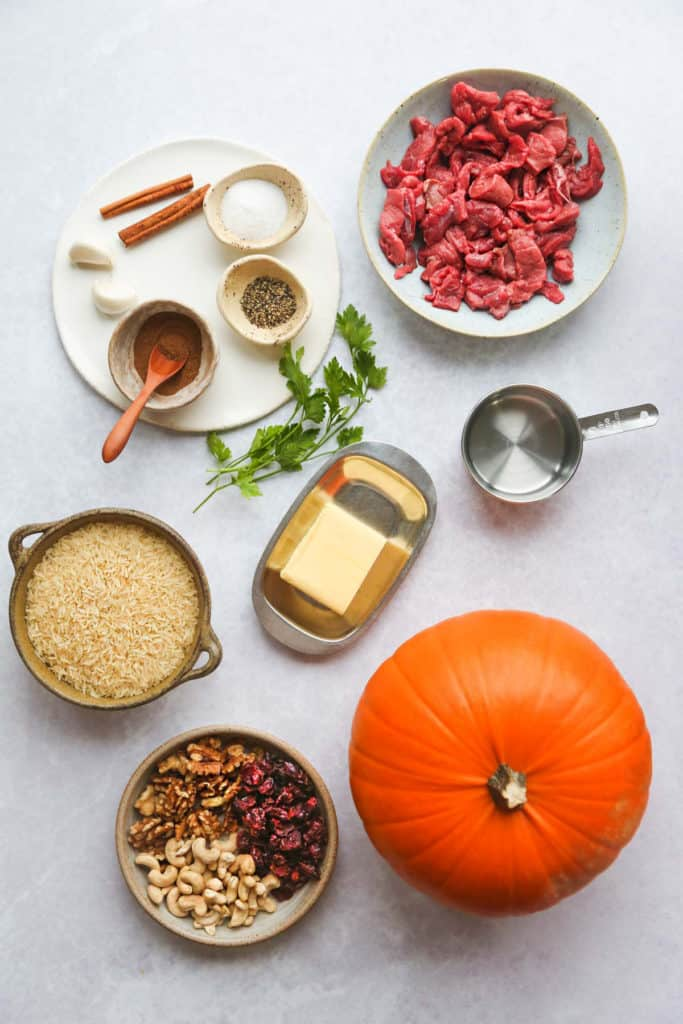 instant pot stuffed pumpkin ingredients