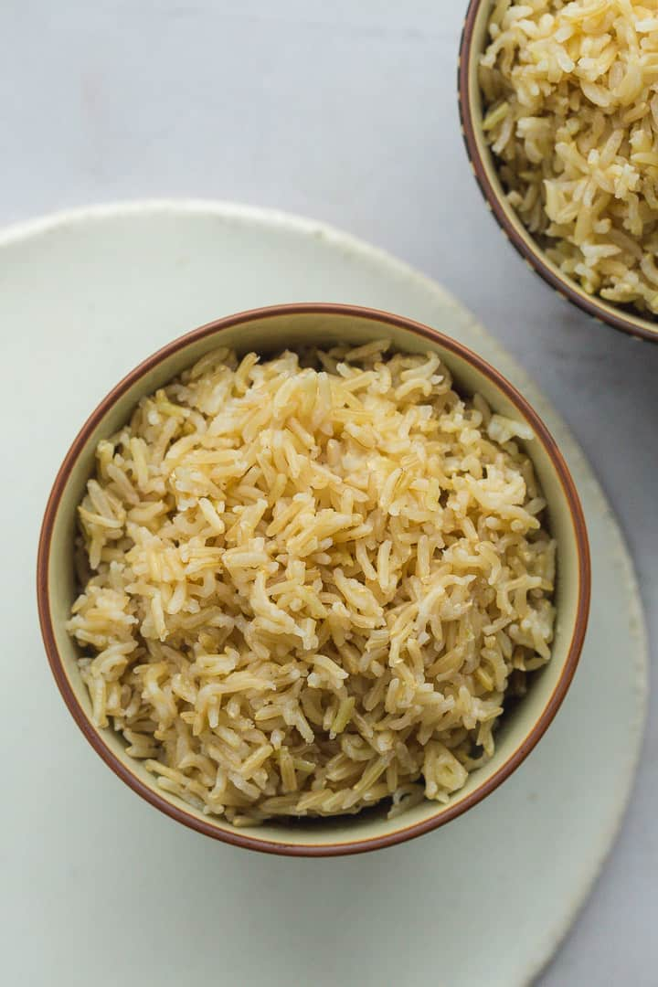 A bowl of brown rice