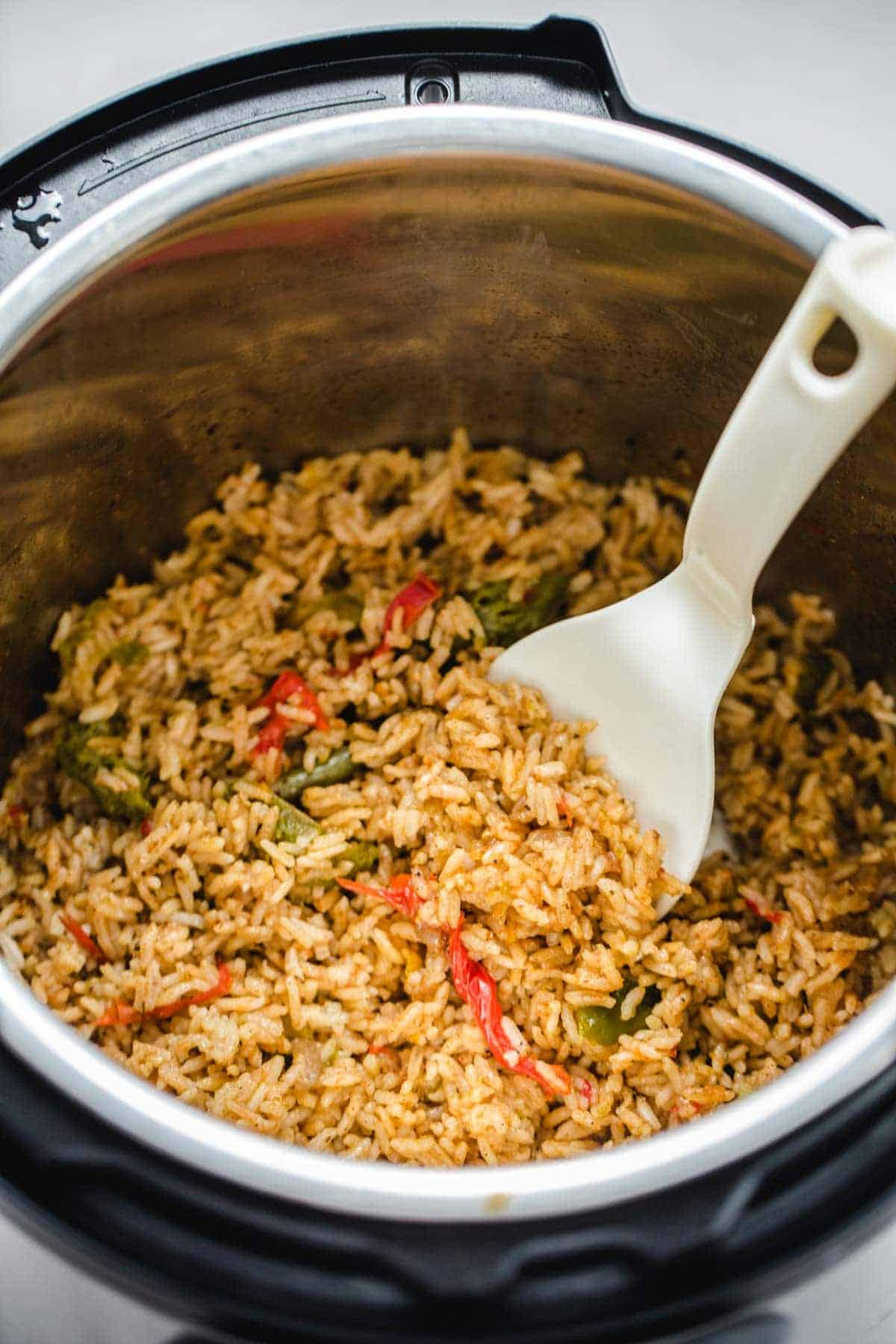 Mexican rice made in the instant pot