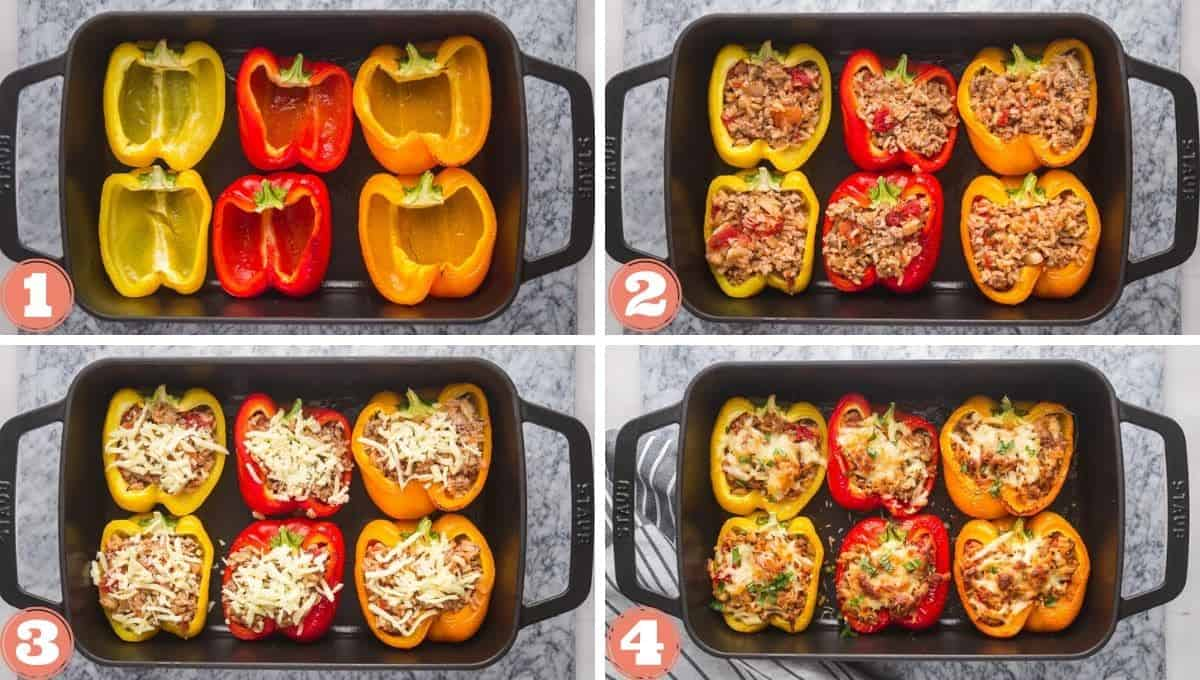 4 steps on how to stuff peppers