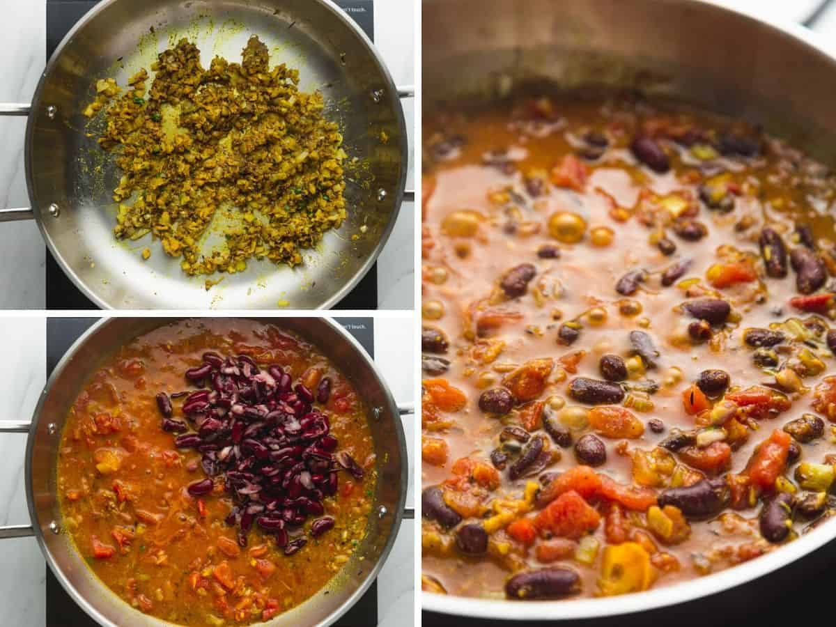 3 Steps how to make kidney bean curry