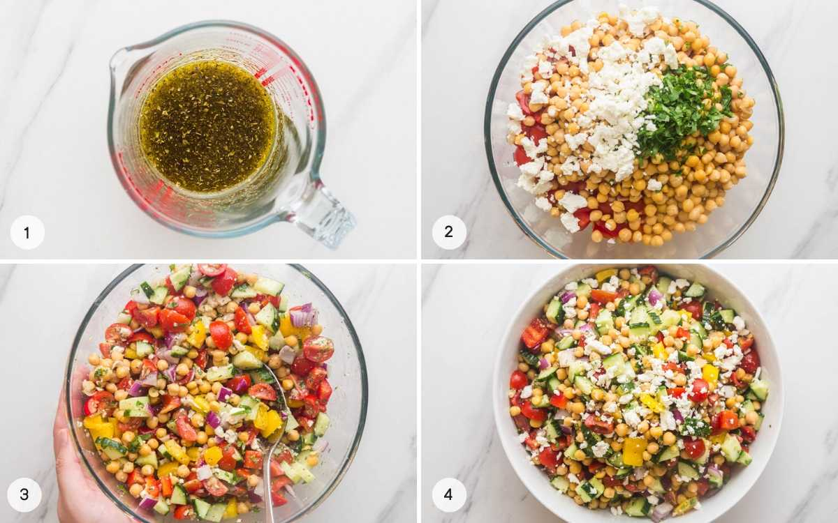 How to make Mediterranean Chickpea Salad step by step