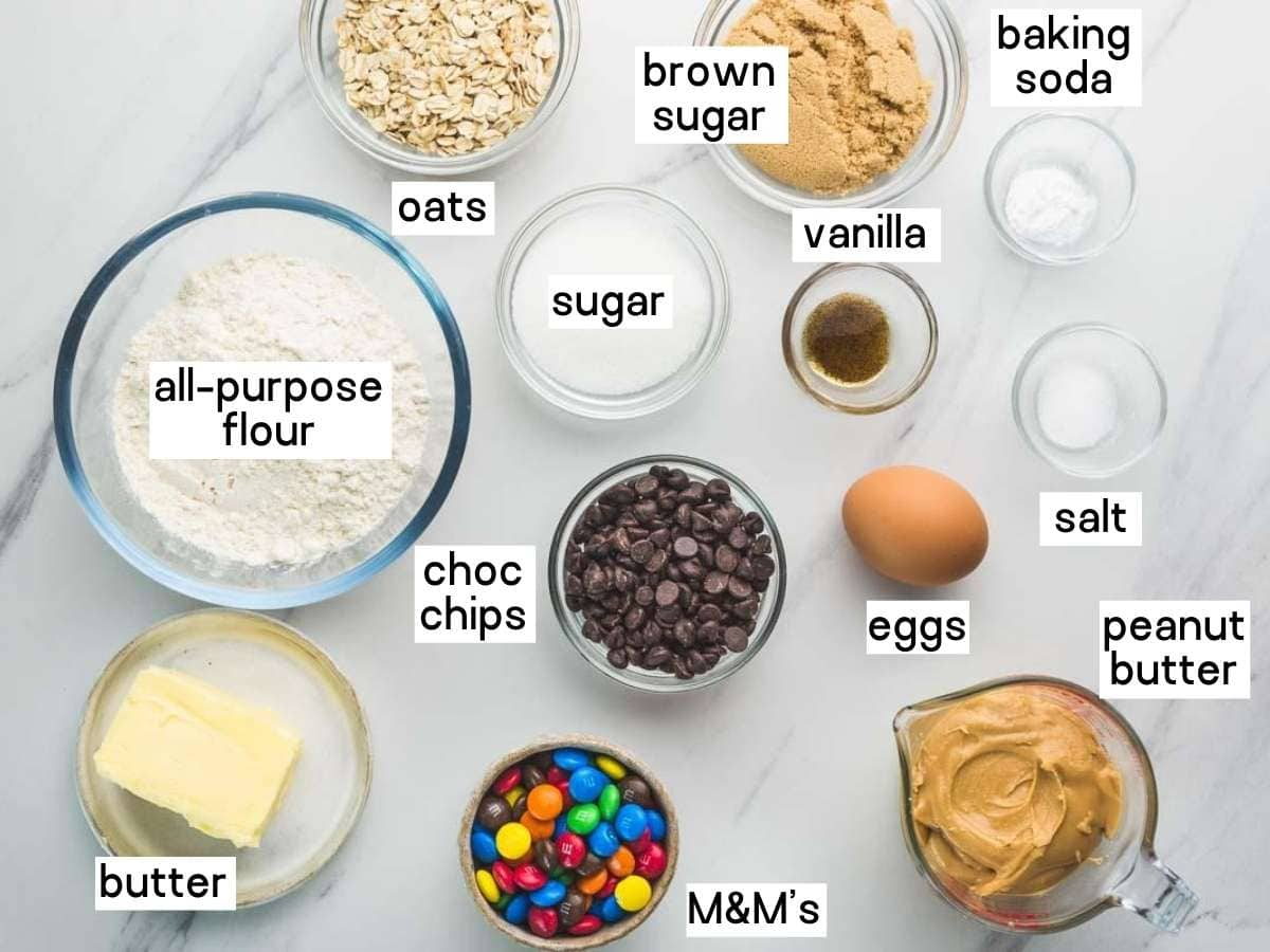 monster cookies ingredients