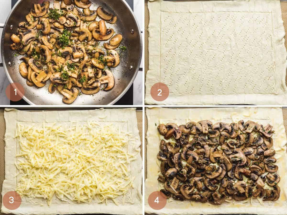 How to make mushroom tart