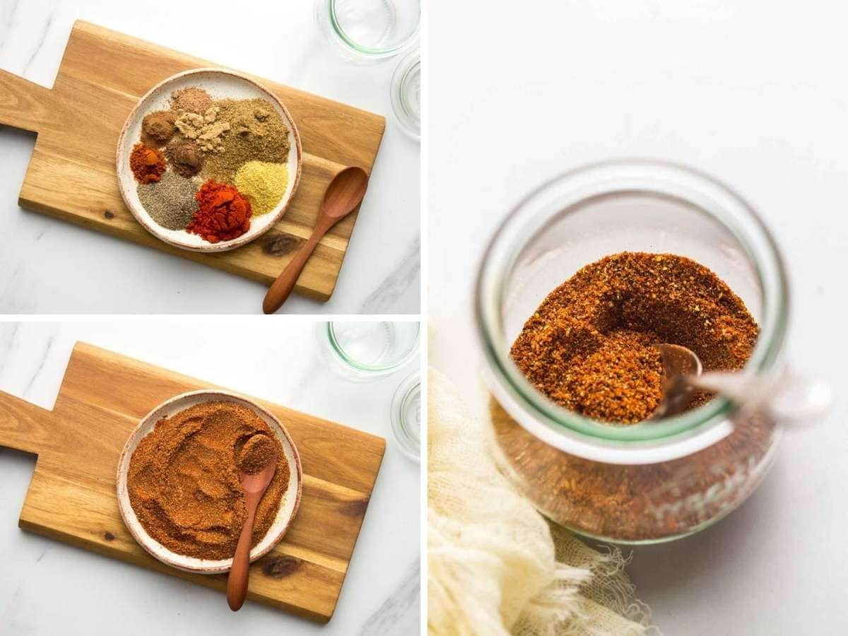 How to mix ground spices to make old bay seasoning, and store in a glass jar