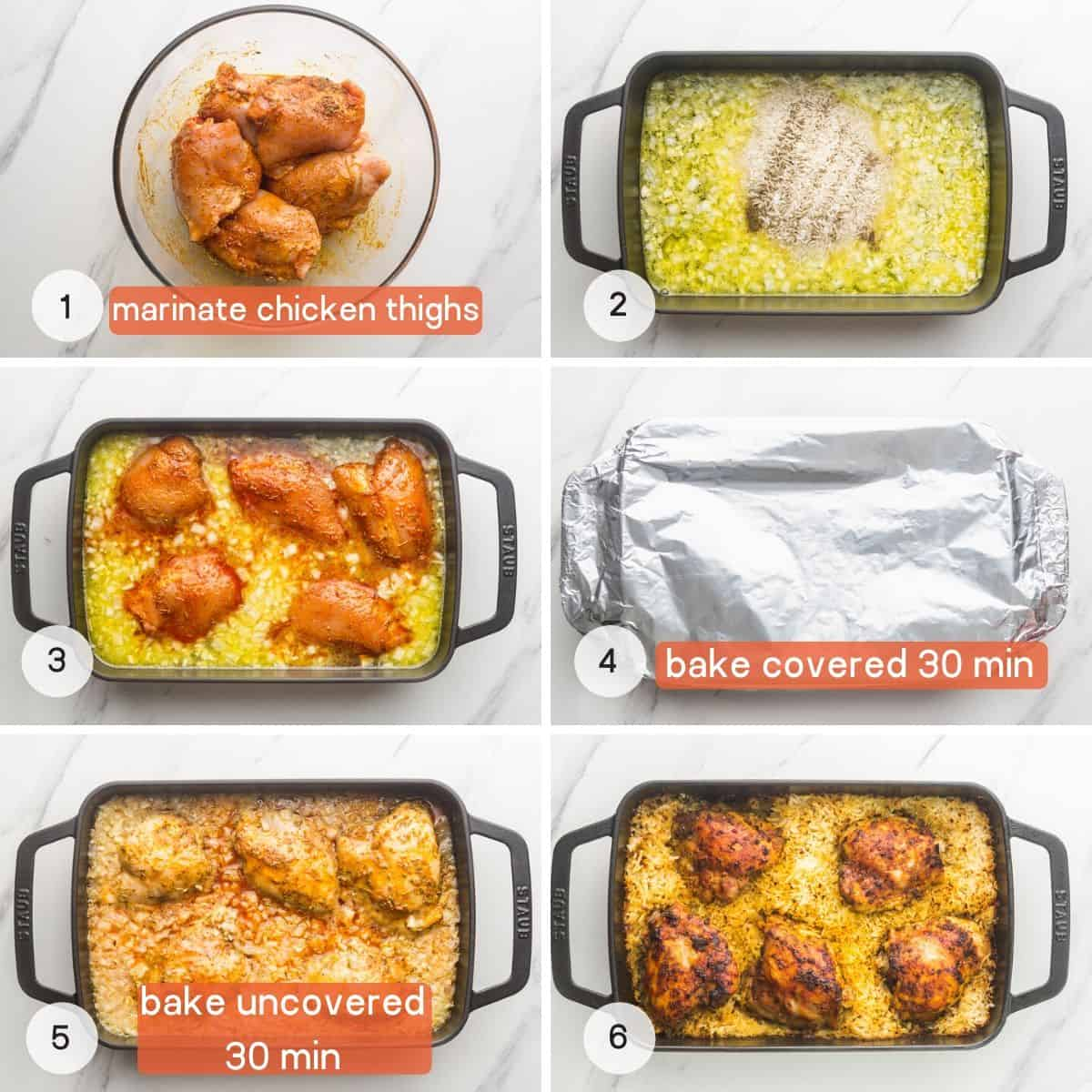 How to make oven baked chicken and rice