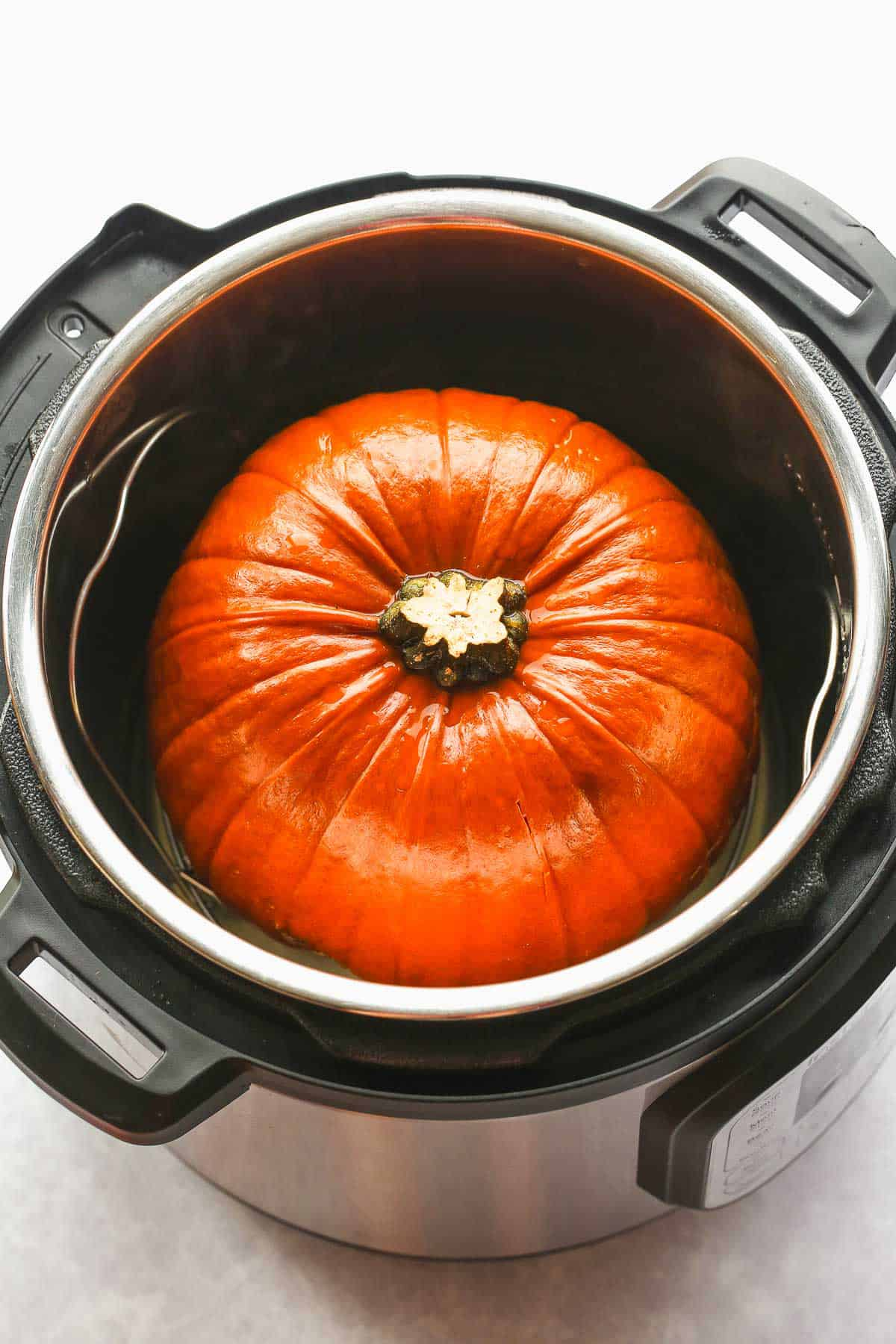 A whole pumpkin in the Instant Pot
