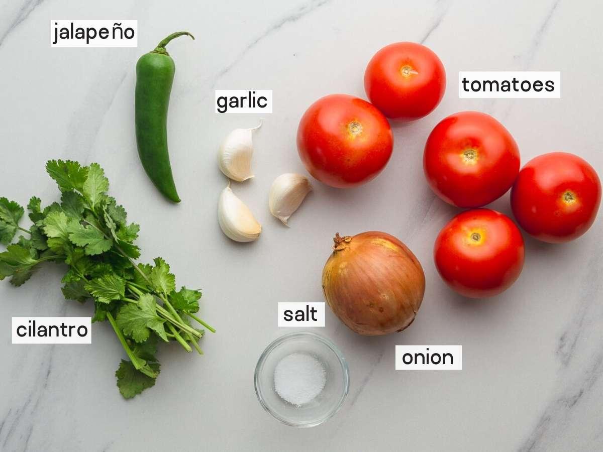 Salsa ranchera ingredients