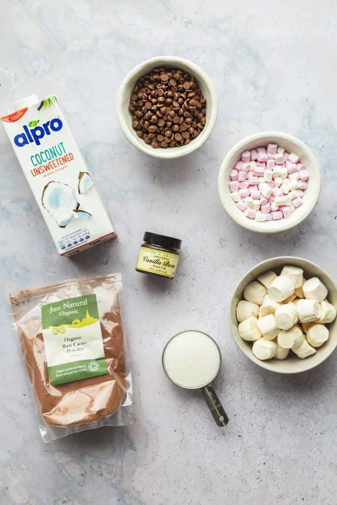 Slow cooker hot chocolate ingredients