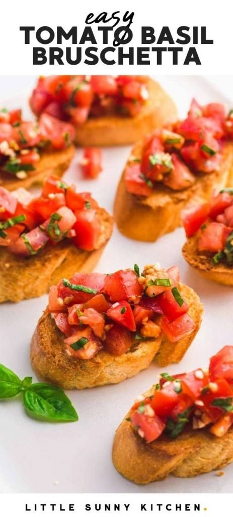 Bruschetta With Tomato And Basil Little Sunny Kitchen